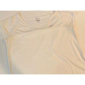 Women's White Nike Drifit Athletic Top